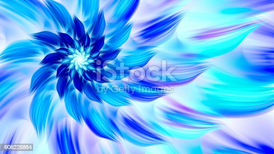 istock Exotic flower. Dance of flower petals. 606226884