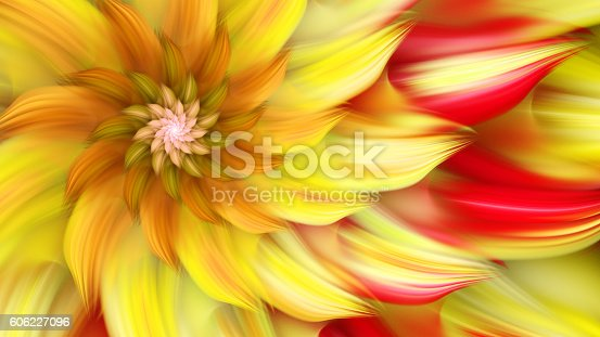 istock Exotic flower. Dance of flower petals. 606227096
