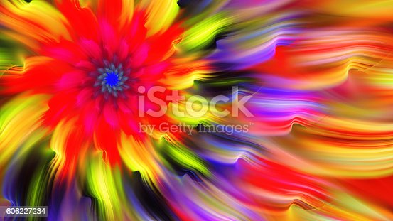istock Exotic flower. Dance of flower petals. 606227234