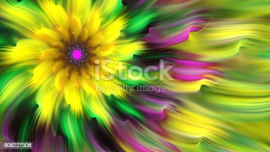 istock Exotic flower. Dance of flower petals. 606227308