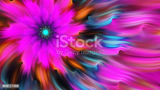 istock Exotic flower. Dance of flower petals. 606227458
