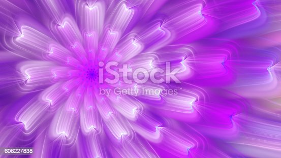 istock Exotic flower. Dance of flower petals. 606227838