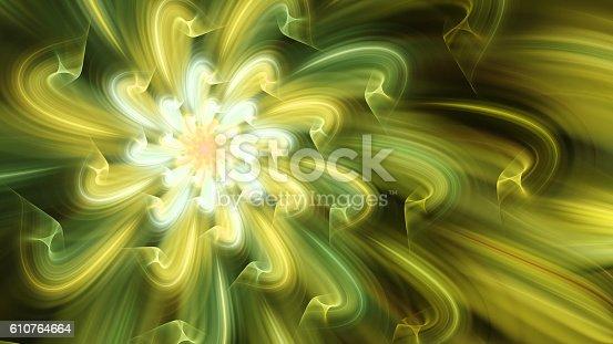 616254646istockphoto Exotic flower. Dance of flower petals. 610764664