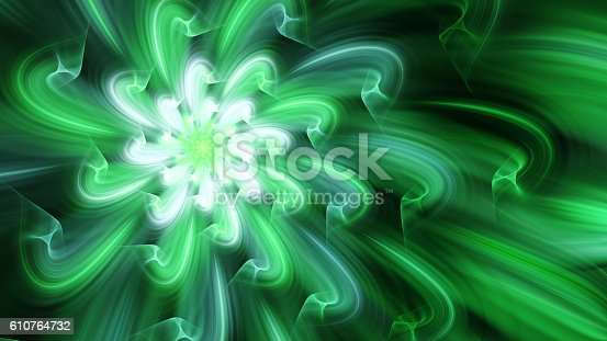 istock Exotic flower. Dance of flower petals. 610764732