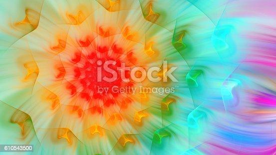 616254646istockphoto Exotic flower. Exotic petals dandelion. 610543500