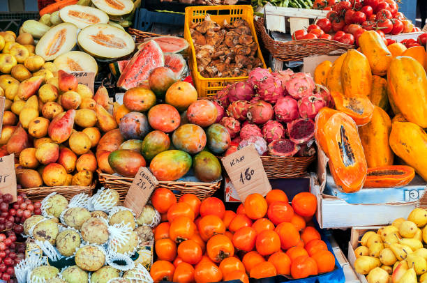 exotic fruit - caribbean culture stock pictures, royalty-free photos & images