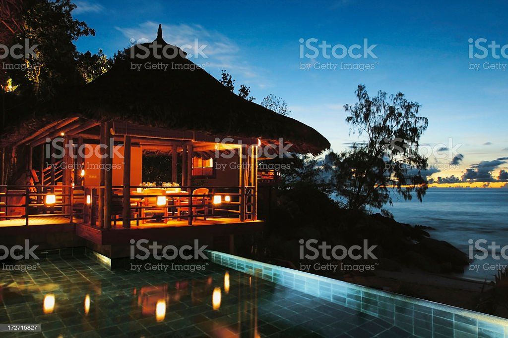 Exotic gateway by night royalty-free stock photo