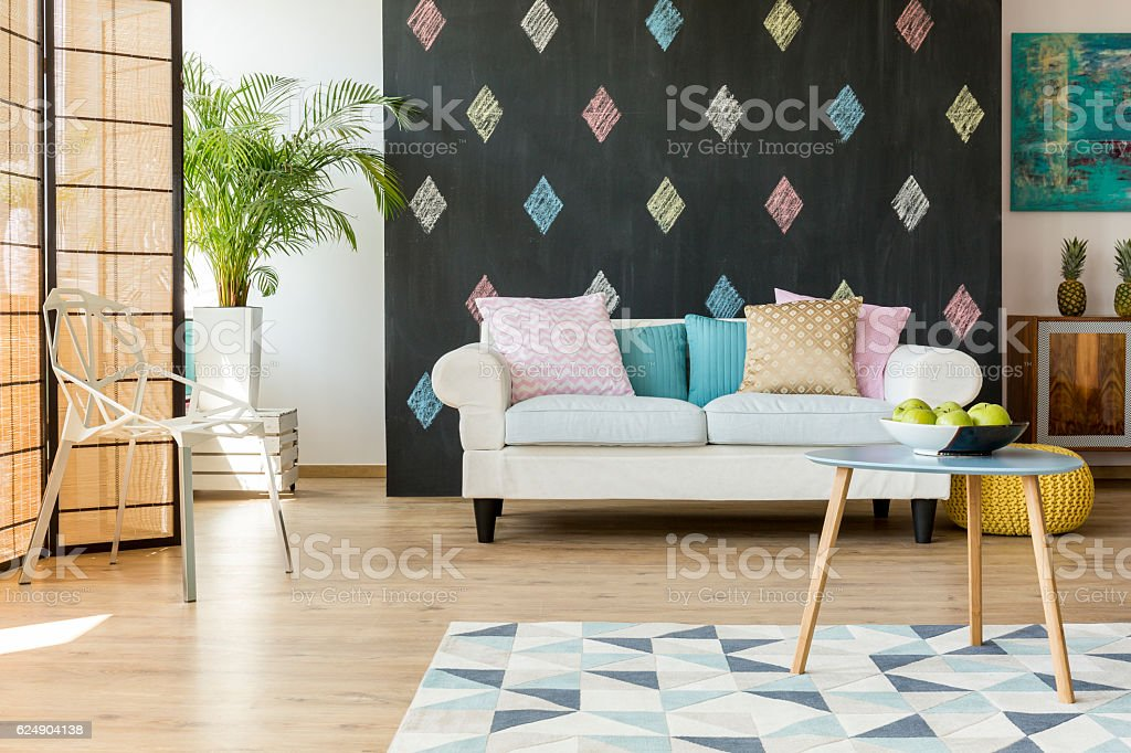 Exotic Living Room With Modern Furniture Stockfoto und mehr ...