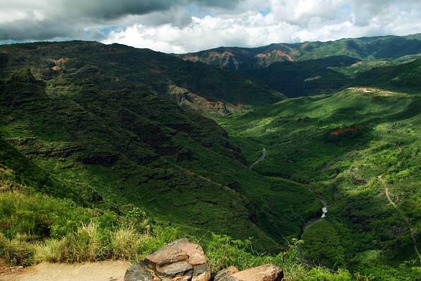 Exotic Locations - Waimea Canyon in Kauai, Hawaii stock photo