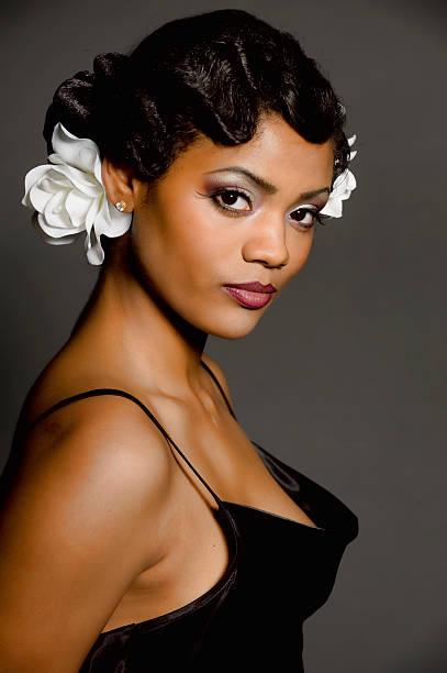 exotische modell - kurze schwarze haare stock-fotos und bilder