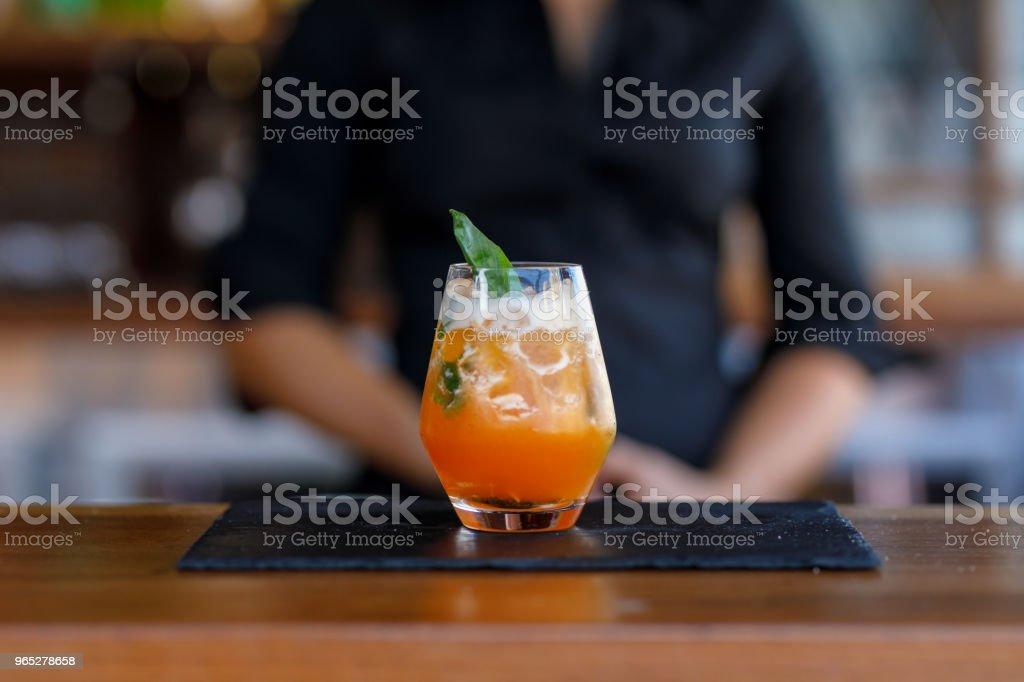Exotic Orange Cocktail stock photo