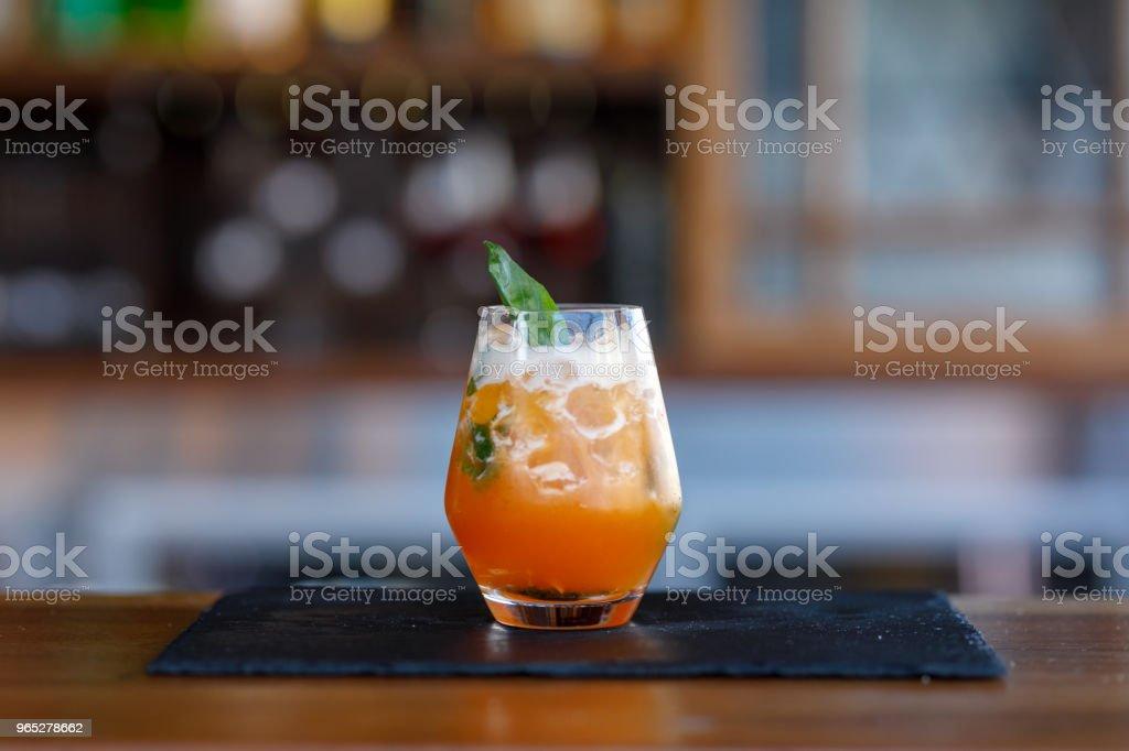 Exotic Orange Cocktail zbiór zdjęć royalty-free