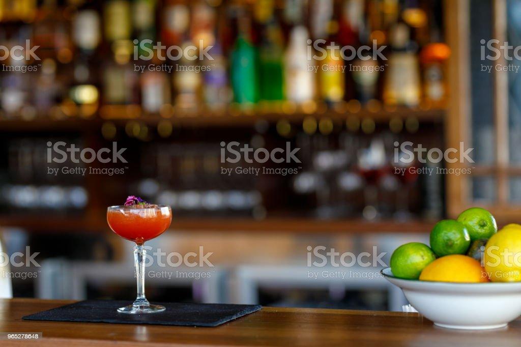 Exotic Passionfruit Cocktail zbiór zdjęć royalty-free