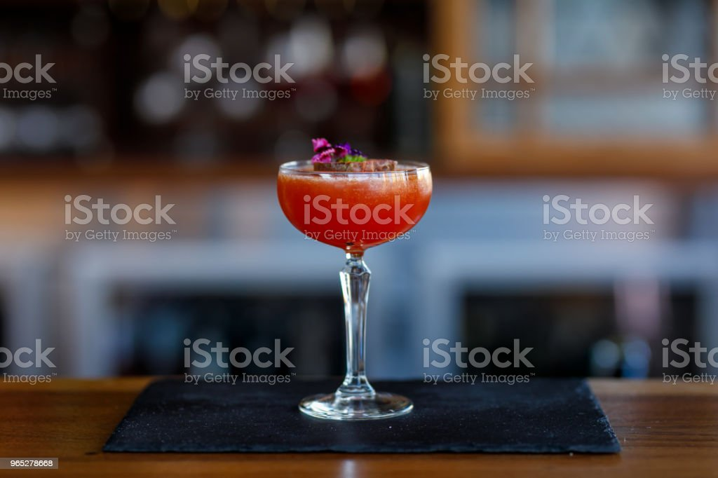 Exotic Passionfruit Cocktail royalty-free stock photo