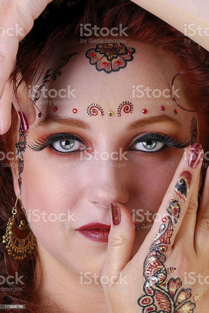 Exotic Portrait - Belly Dancer royalty-free stock photo