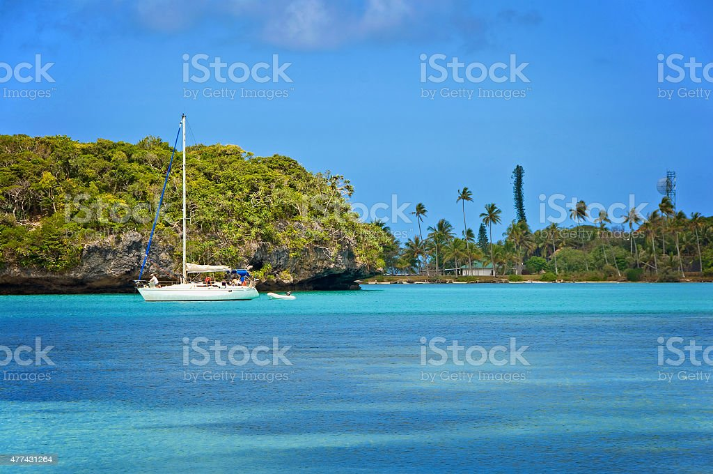Exotic seascape, isle of Pines, New Caledonia stock photo