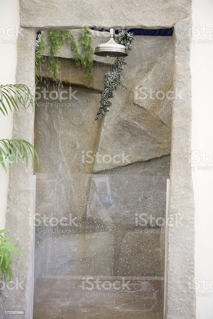 Exotic Shower Cabin royalty-free stock photo