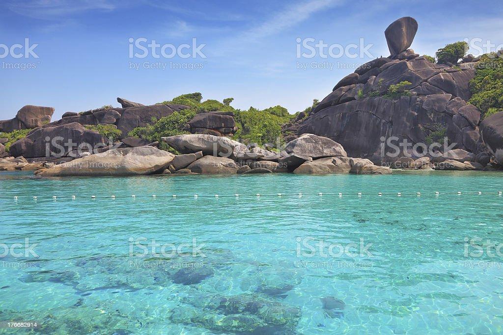 Exótico islas Similan foto de stock libre de derechos
