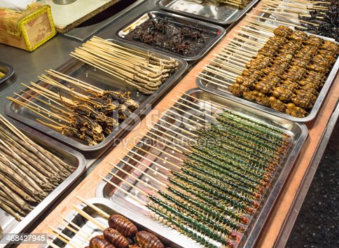 istock Exotic Street Food For Sale in China 468427945