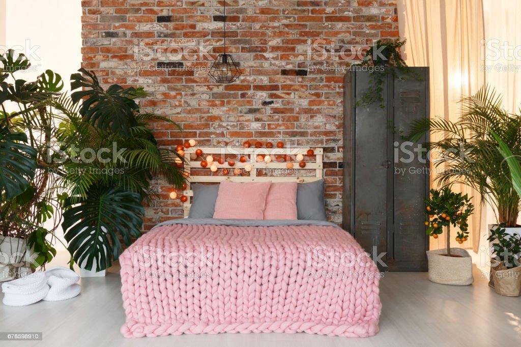 Exotic studio apartment stock photo
