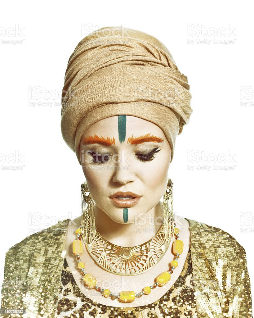 Exotic Style Woman, Fashion Portrait royalty-free stock photo