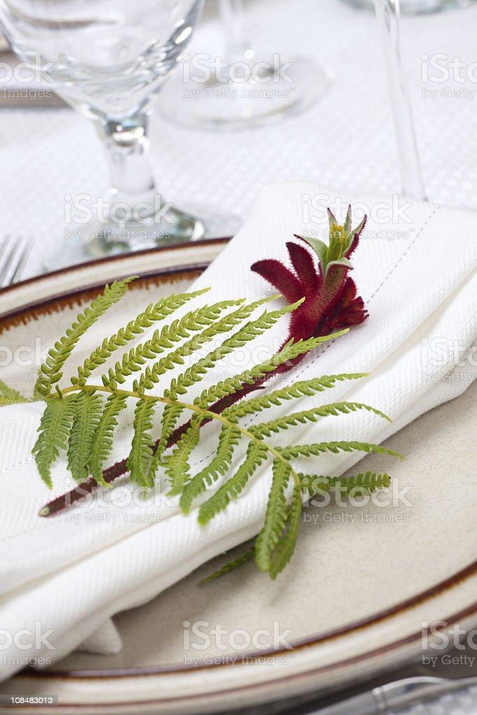 Exotic theme table set royalty-free stock photo