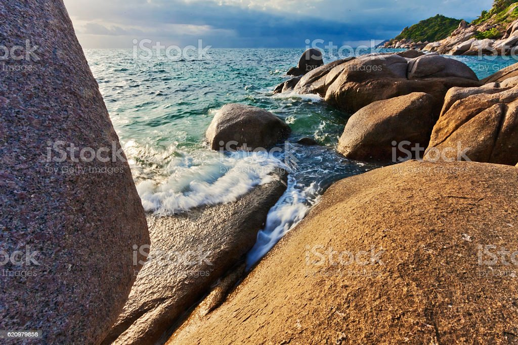 Praia tropical exótica.   foto royalty-free