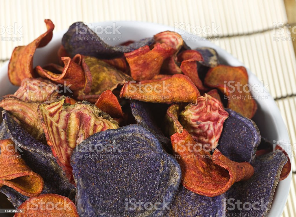 Exotic Vegetable Chips stock photo