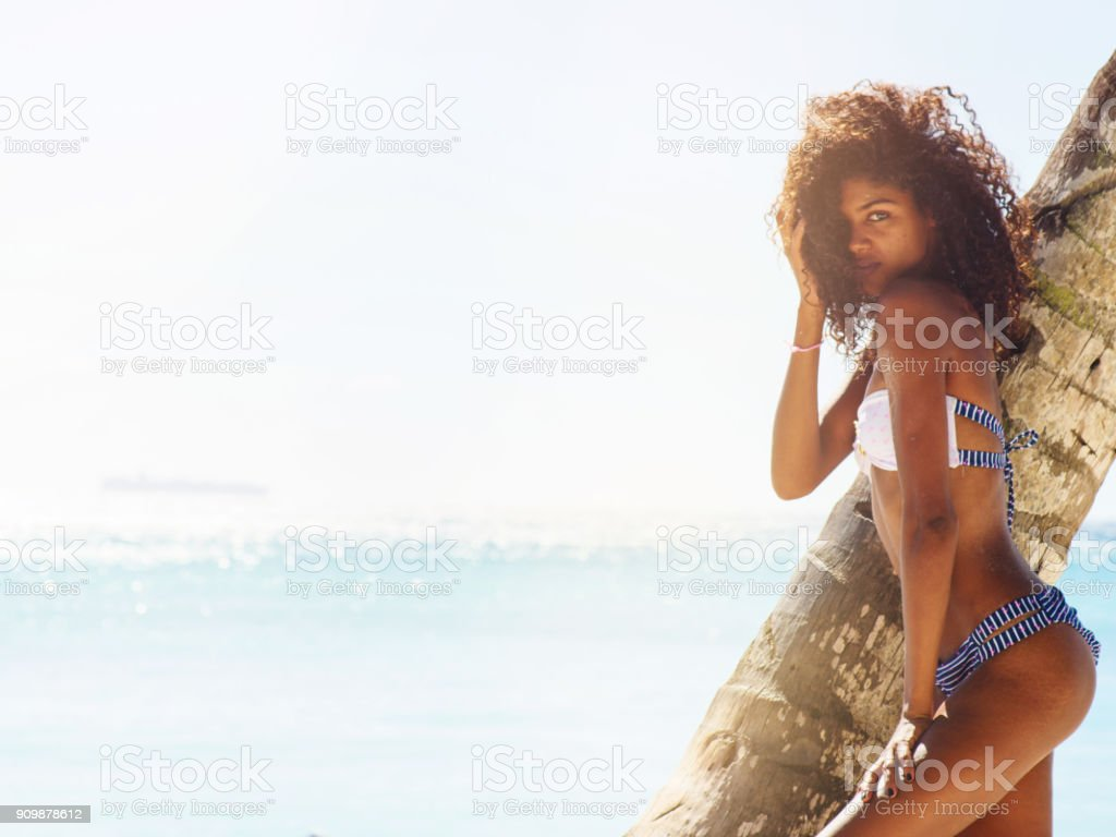Exotic woman stock photo