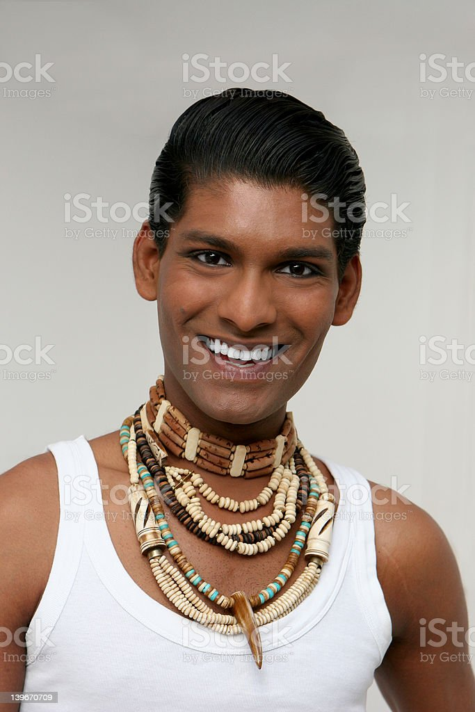 Exotic young man royalty-free stock photo