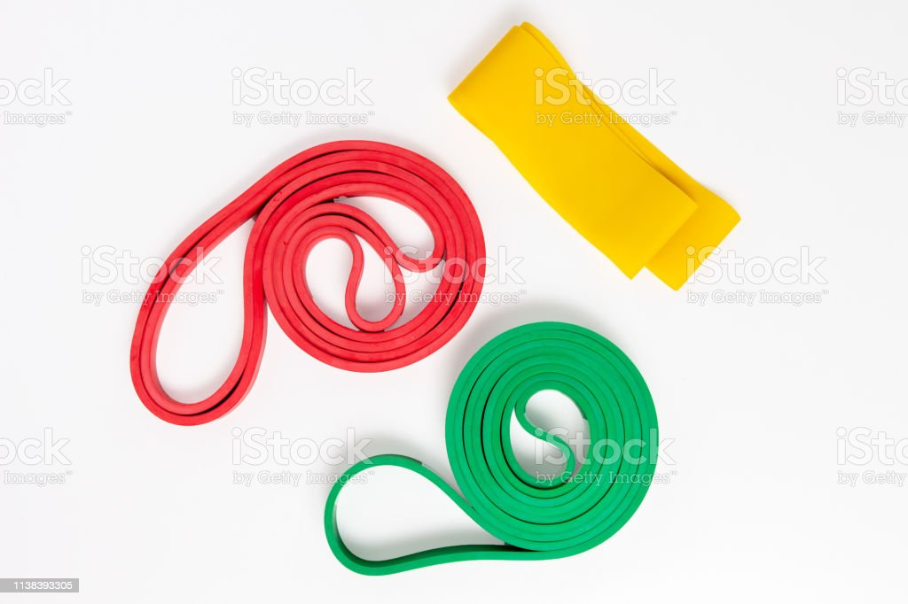 Expander fitness tape for sports training. Rubber tape for fitness...