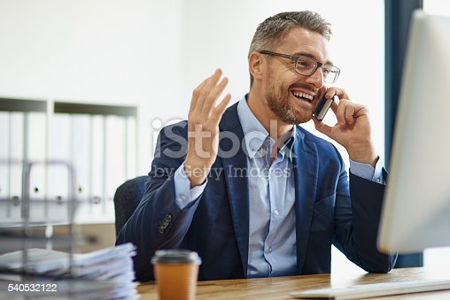 istock Expanding his empire using technological resources 540532122