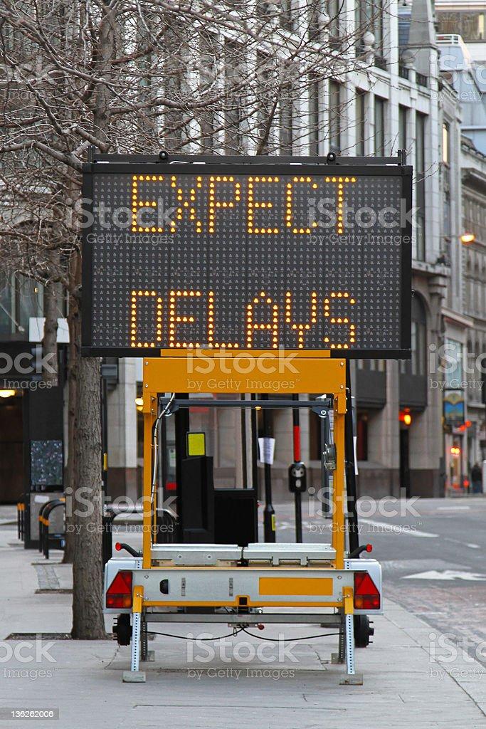 Expect delays stock photo