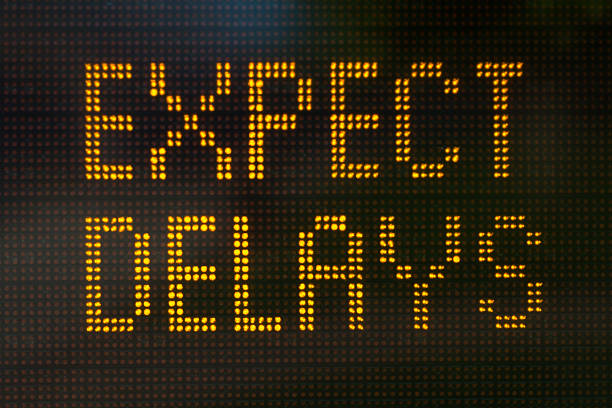 Expect Delays Sign A sign informing motorists to expect delays electronic billboard stock pictures, royalty-free photos & images
