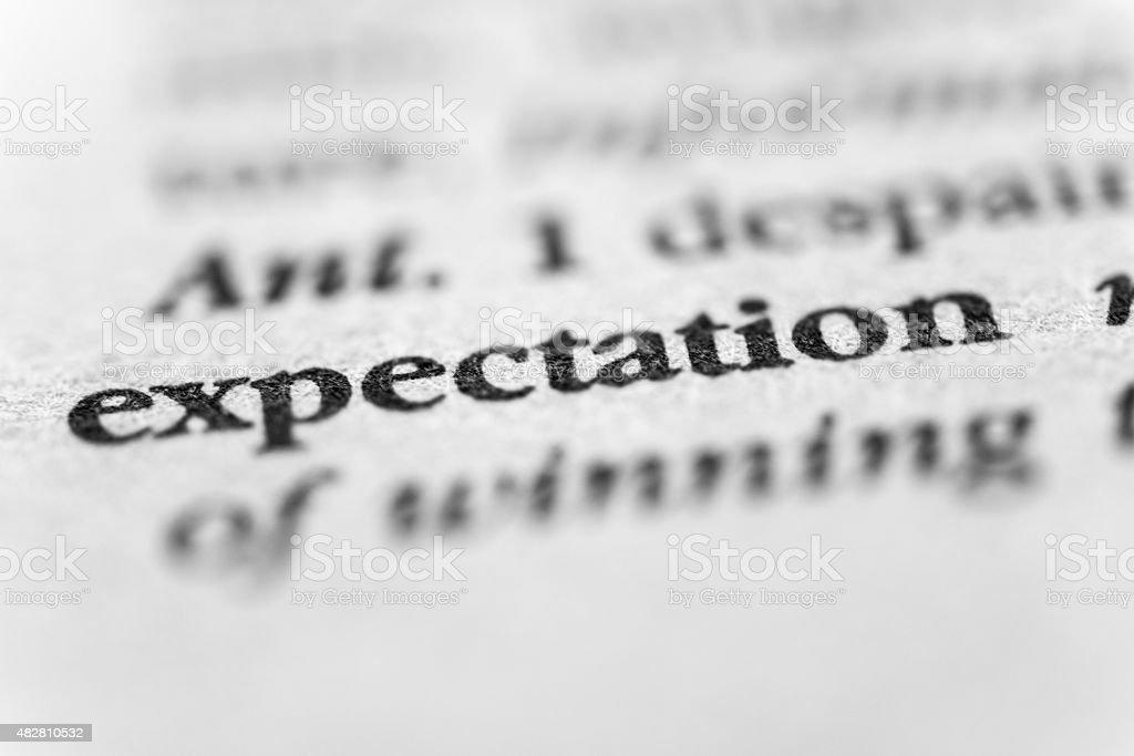 Expectation stock photo