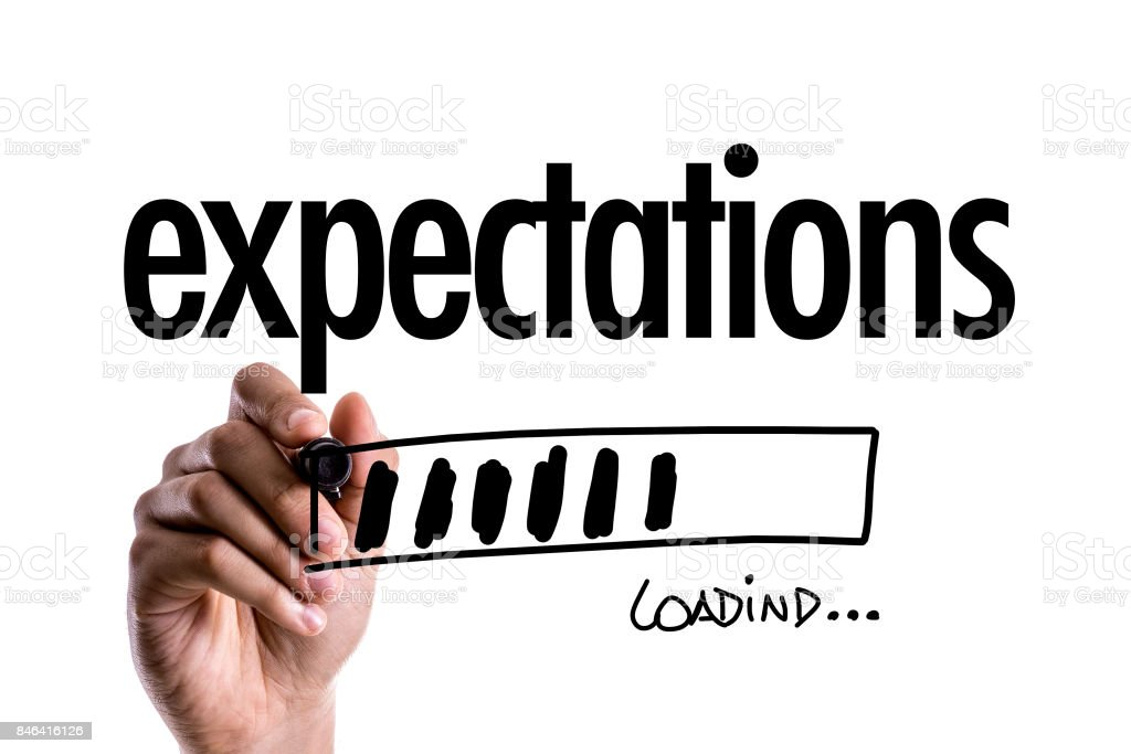 Expectations stock photo