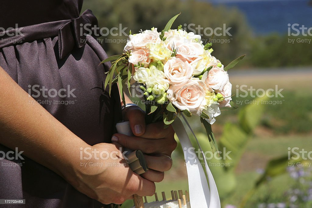 Expecting Bridesmaid stock photo