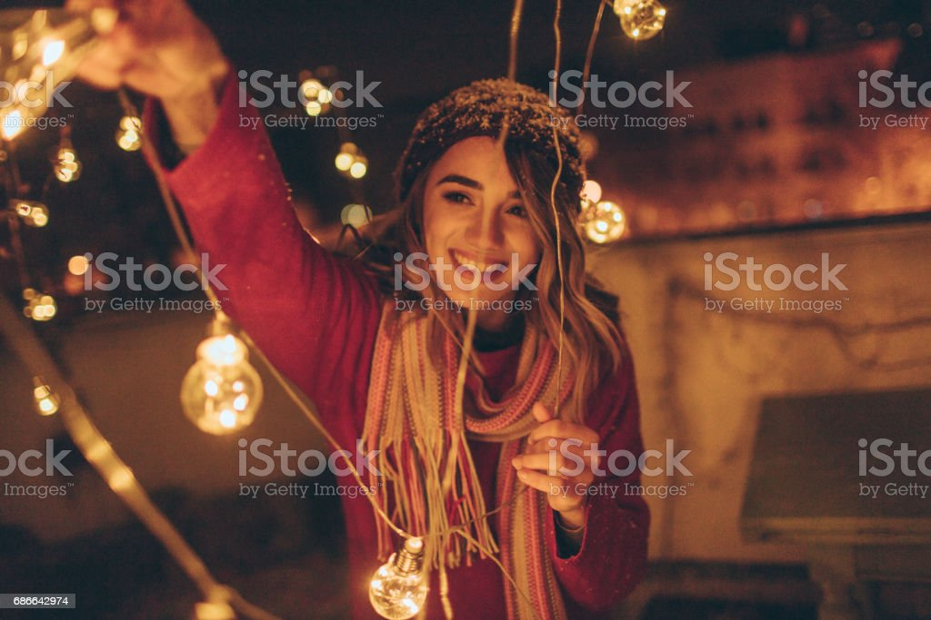 Expecting Christmas... stock photo