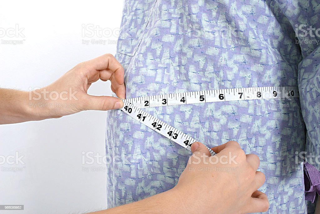 Expecting Mom's Belly Being Measured royalty-free stock photo