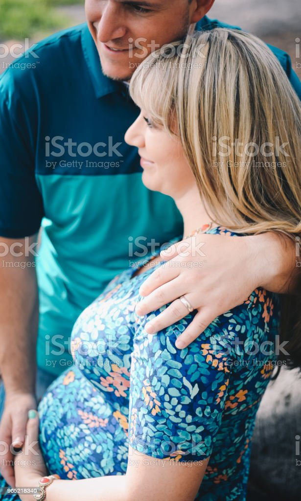 Expecting royalty-free stock photo
