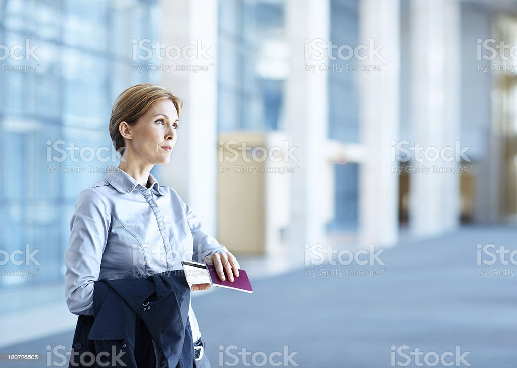 Expecting the plane's arrival soon royalty-free stock photo