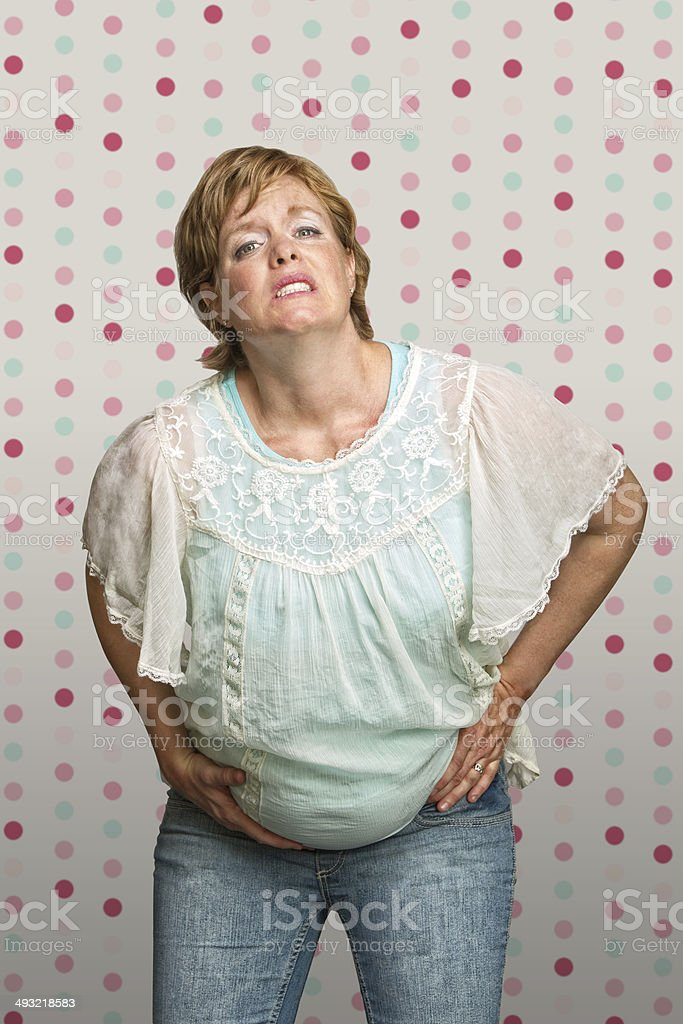 Expecting Woman in Pain stock photo
