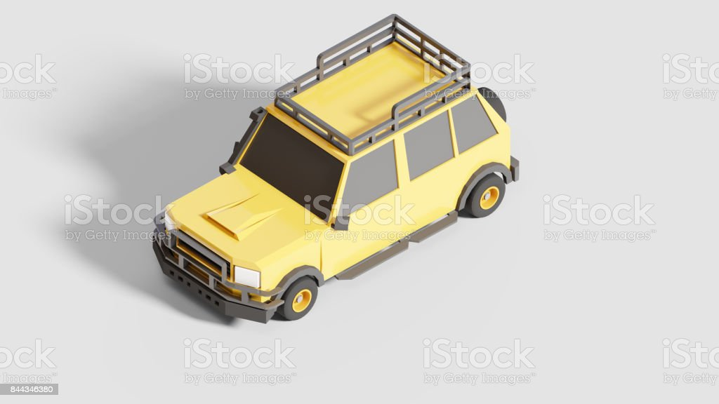 Expedition Car Isometric view stock photo