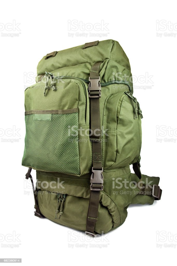 expeditionary military backpack isolated on white background royalty-free stock photo