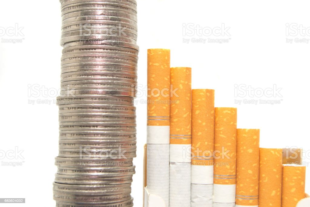 Expenses Coins stock photo