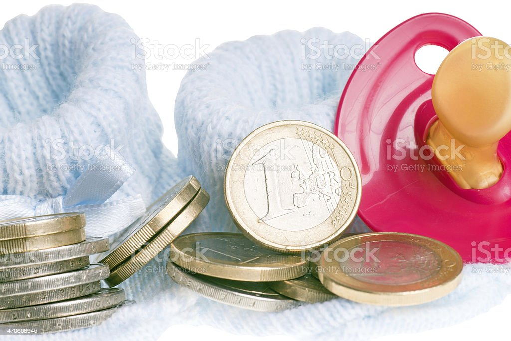 Expenses for a child stock photo
