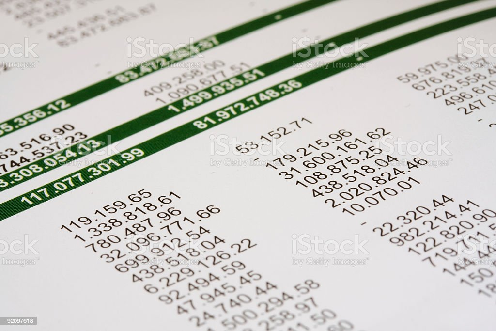 Expenses numbers royalty-free stock photo