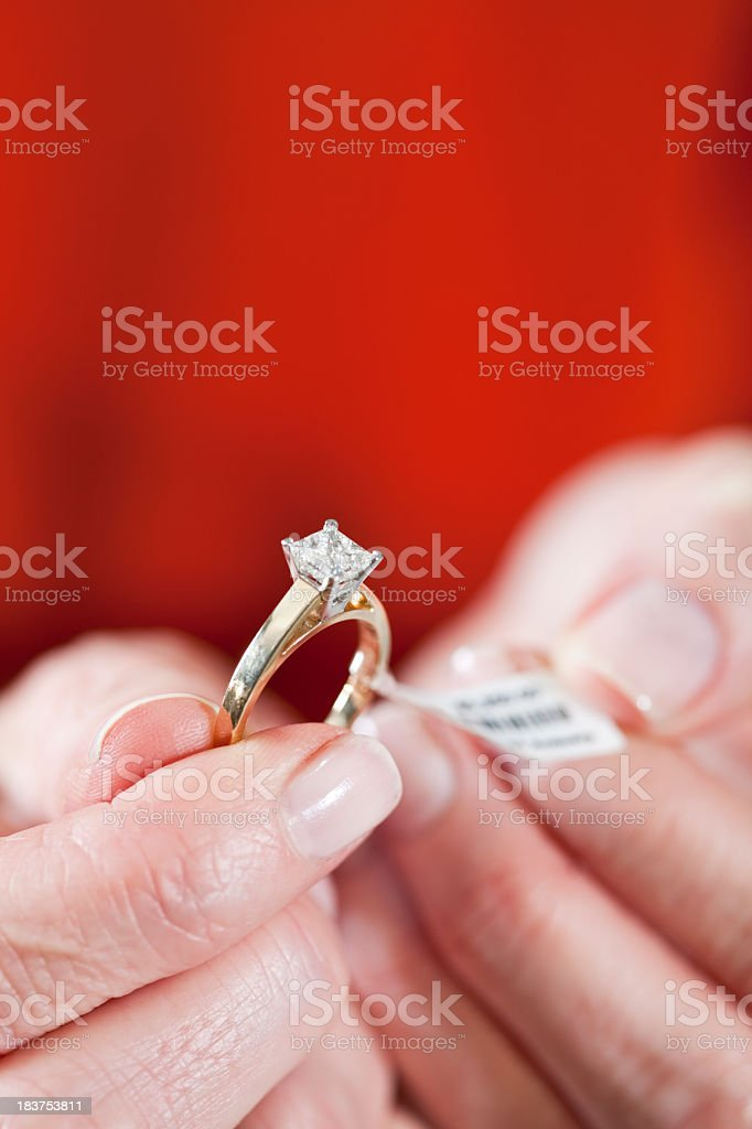Expensive engagement ring stock photo