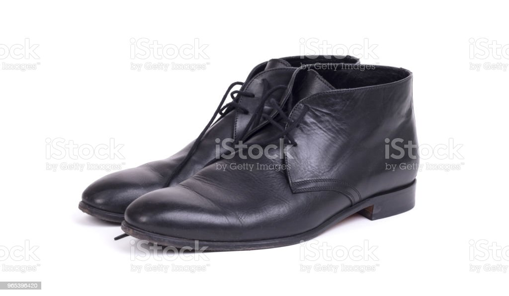 Expensive formal shoes, isolated royalty-free stock photo