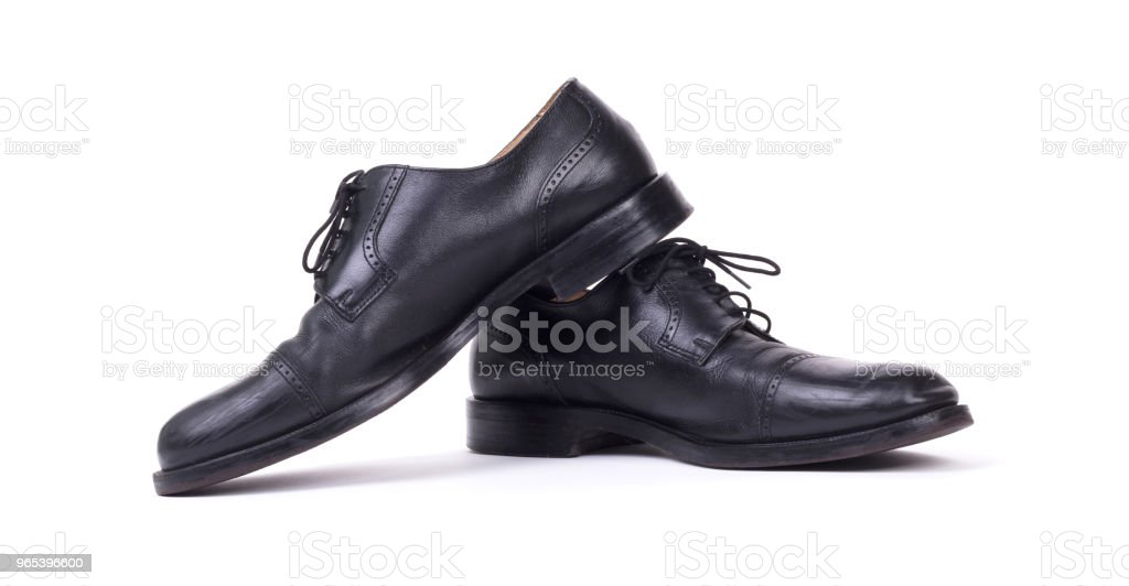 Expensive formal shoes, isolated zbiór zdjęć royalty-free